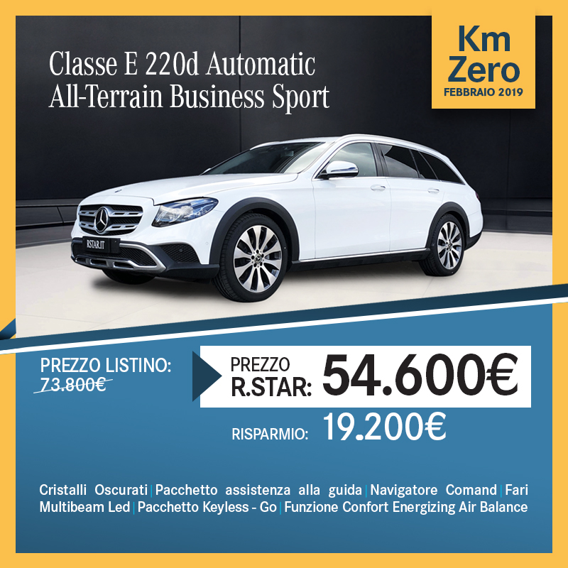 Mercedes-Benz CLASSE E 220 d AUTOMATIC All Terrain Business Sport